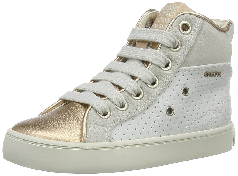 Geox Jr Kiwi B, Sneakers Basses Fille, Beige (Skin/silverca51w), 32 EU