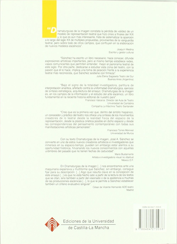 Dramaturgias de la imagen. (MONOGRAFÍAS): Amazon.es: José Antonio Sánchez Martínez: Libros