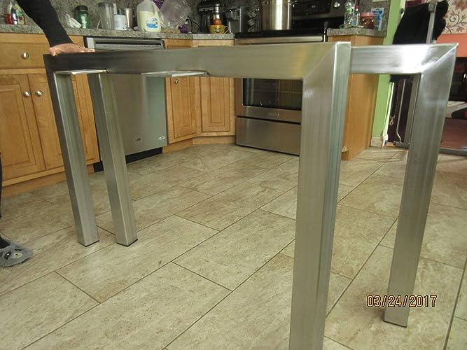 Amazon com: Stainless Steel Table Legs,Custom Sizes,Handmade