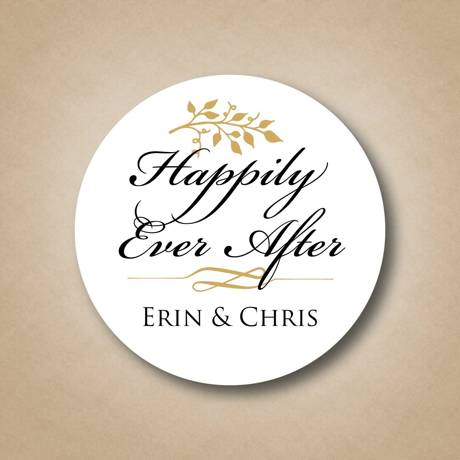 happily ever after wedding stickers handmade