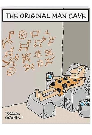 Humorous Original Man Cave Birthday Father Card With Envelope Supersized Jpg 309x450 Dad Attitude Ecard