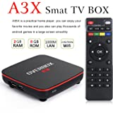 OVERBOX Android 6.0 TV BOX A3X Smart Player Amlogic S905X CPU 2GB RAM 8GB ROM TV Box 4K Ultra HD Smart TV Player Quad Core Amlogic S905X