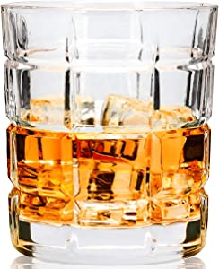 LANFULA Old Fashioned Glasses Set of 4, Large 10 Oz Rocks Style Whiskey Tumbler