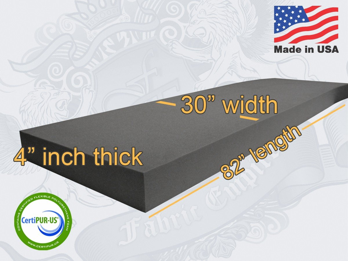 30 X 82 Upholstery Rubber Foam Sheet Cushion 6 x 30 x 82 Rubber Foam Sheet USA Made NF33 Seat Replacement, Foam Padding