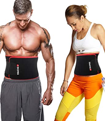 Waist Trimmer Belt for Women & Men, Waist Trainer, Ab Belt for Weight Loss, Slim Body Sweat Wrap for Low Back and Lumbar Support with Sauna Suit Effect, Abdominal Trainer with Smartphone Sleeve