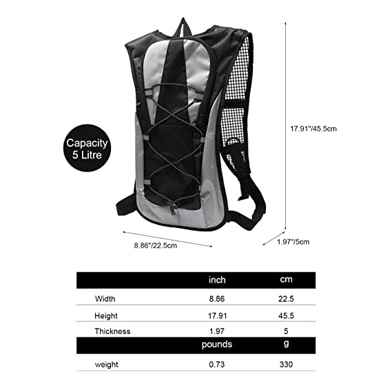 Amazon.com : Ioutdoor Products 5L Light Riding Backpack Bike Hydration Backpack Cycling Water Bag for Running, Cycling, Hiking, Climbing, Riding, ...