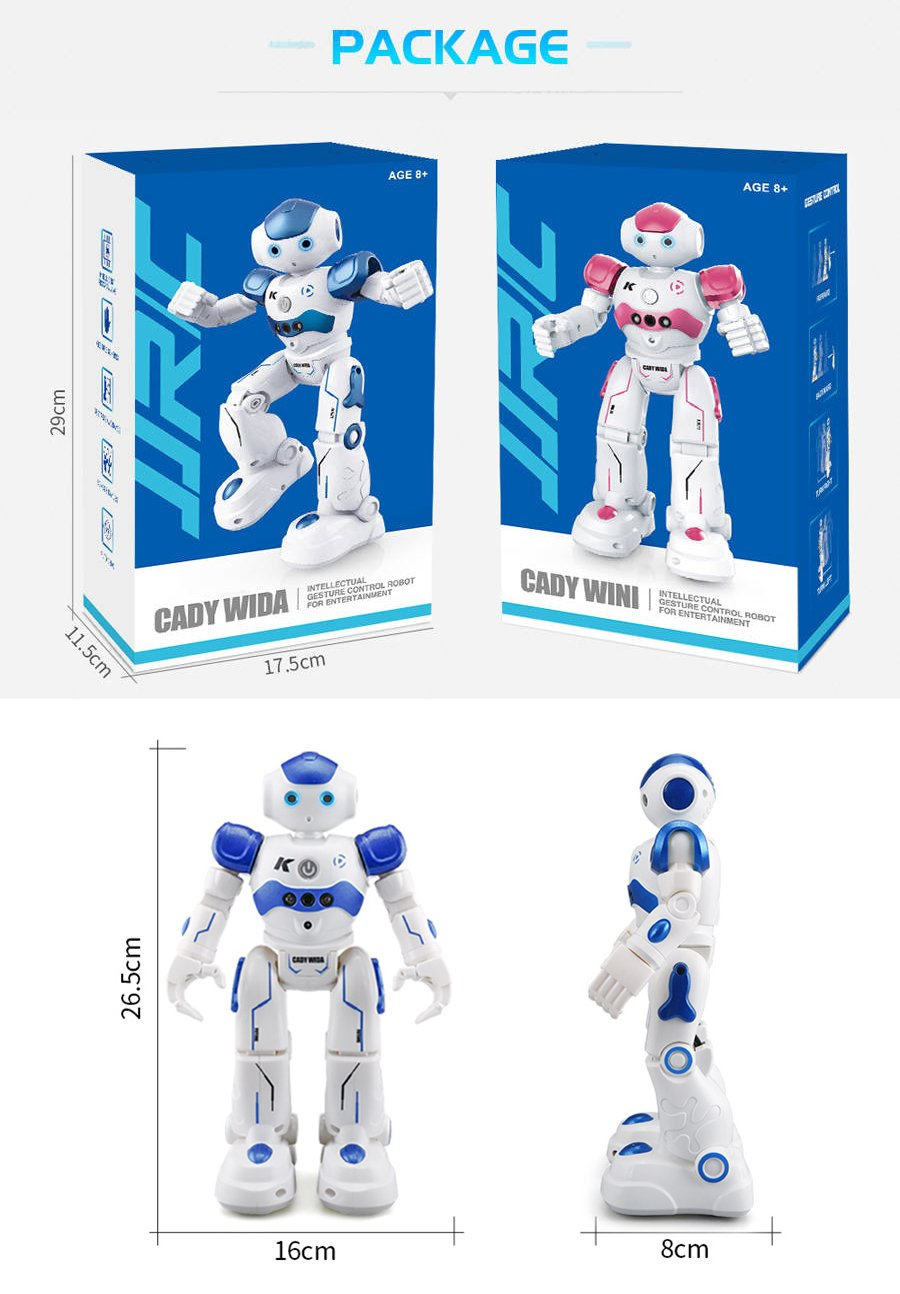 BTG R2 Cady-Wida Cady-WINI Intelligent Gesture Sensor Control RC Robot for Entertainment - Walks in All Direction, Slides, Turns Around, Dances - Toy for Boys/Girls RED by BTG (Image #9)
