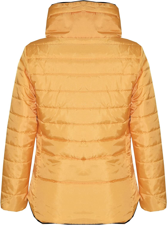 A2Z 4 Kids/® Girls Jacket Kids Navy Padded Puffer Bubble Faux Fur Collar Warm Coats 5-13 yrs