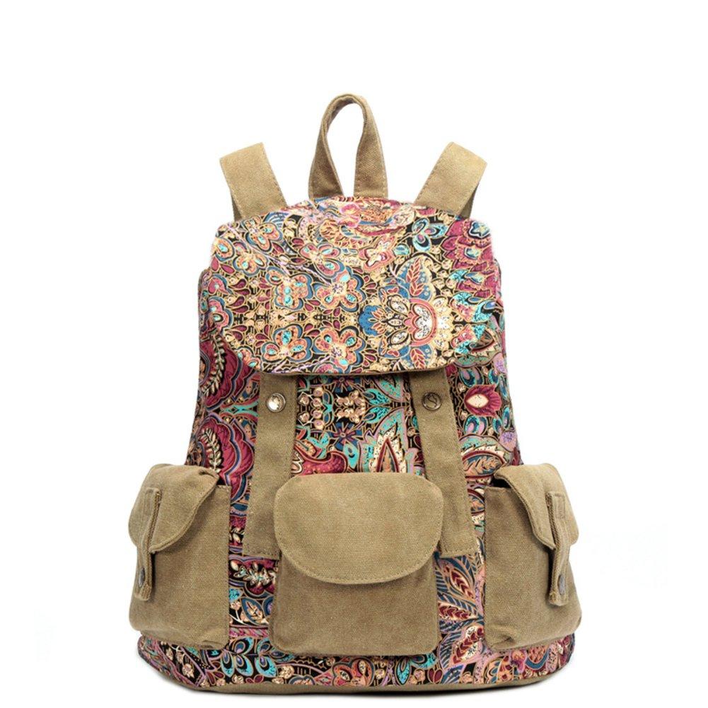 WQT National sail cloth/backpack/Travel bag/Double shoulder bag/School bags-D