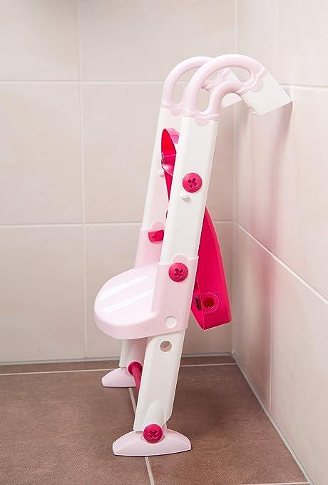 41,5 x 25 x 67 cm Rosa//Wei/ß 600060257 Ab 18-36 Monate Rotho Babydesign KidsKit 3-in-1 Toilettentrainer