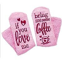 Women Cool Pink Socks Fuzzy Novelty Cupcake Packaging Funny Cute Socks Gift Idea Warm Knit Wool Socks