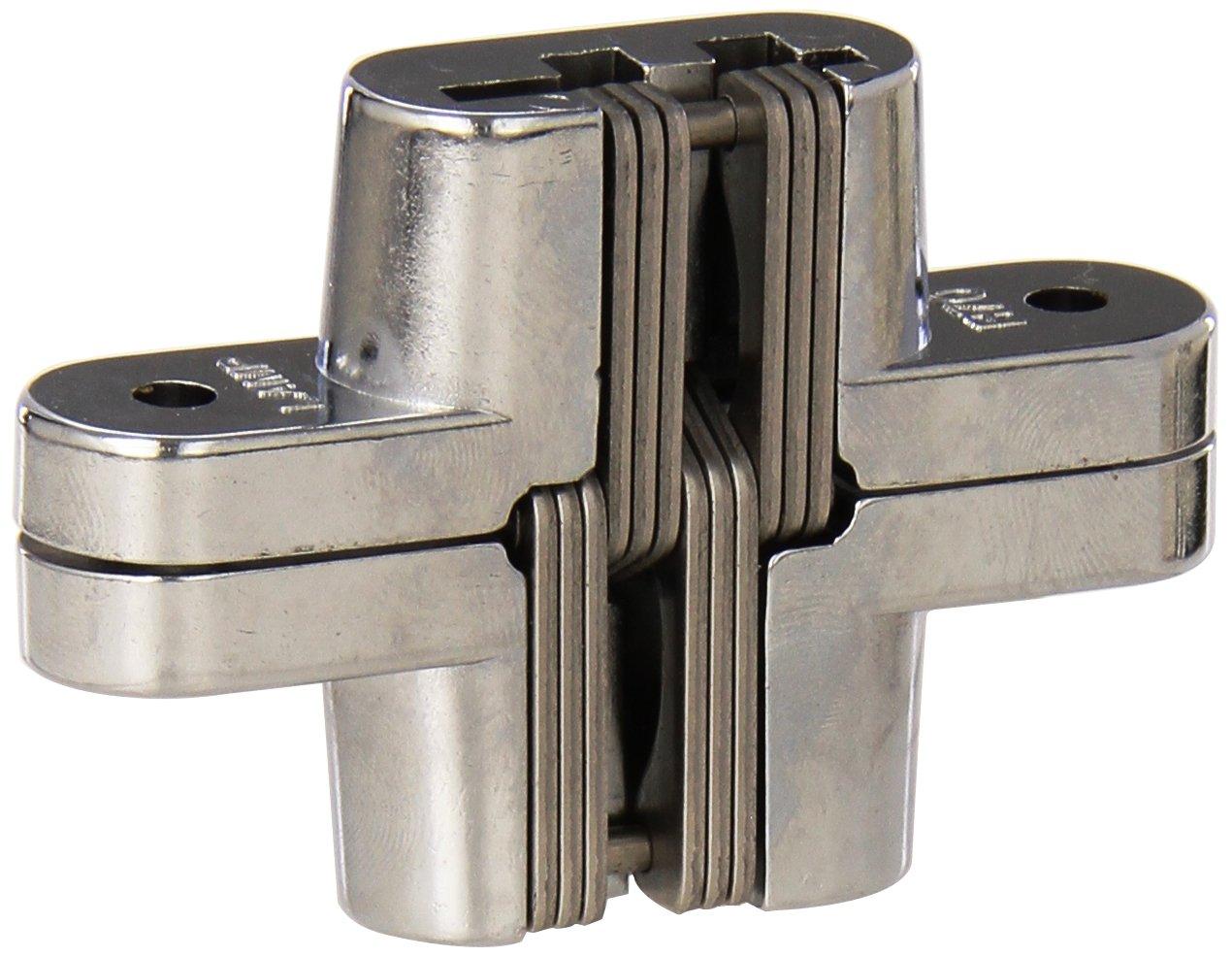 Sugatsune R-70 Zinc Alloy Concealed Hinge, Satin Chrome Finish, 42.6mm Width, 70mm Length, 7mm Thick