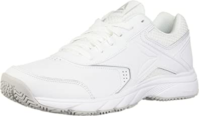 Reebok Men's Work N Cushion 3.0 Walking Shoe, WhiteSteel