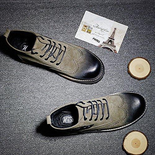 HL-PYL - - - Martin Schuhe für Herren Schuhe und Retro verdickte hohe All-Match Schuhe 40 Khaki 11d390