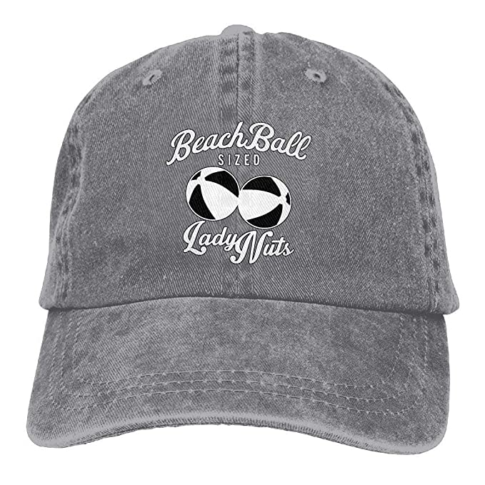 Image Unavailable. Image not available for. Color  Beach Ball Sized Lady  Nuts Classic Unisex Baseball Cap Adjustable ... 692b4e32d73e
