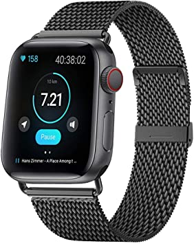HILIMNY Compatible Correa para Apple Watch 38mm 40mm 42mm 44mm, Malla de Acero Inoxidable Correa de Bucle con, para iWatch Serie 5/4/3/2/1, Sport, Edition …: Amazon.es: Deportes y aire libre