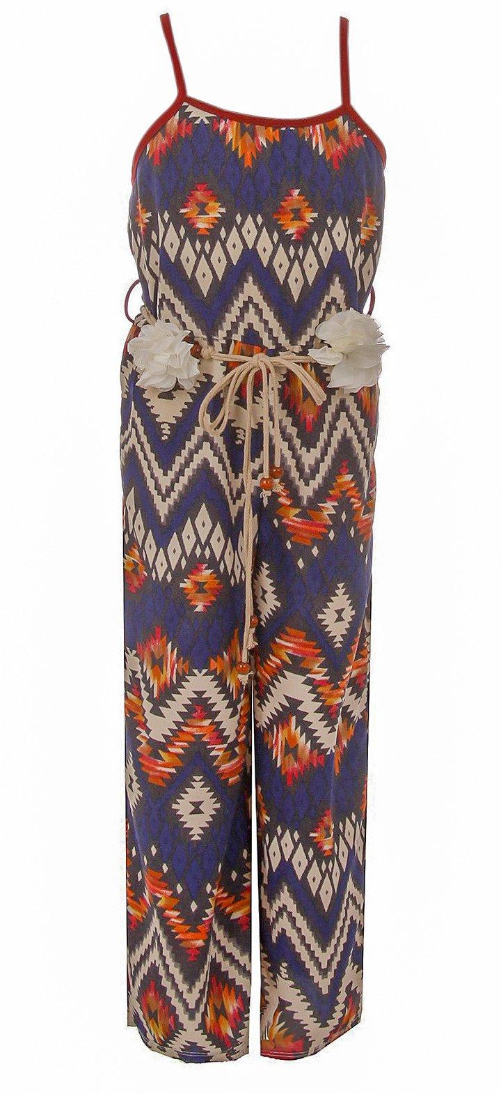 BNY Corner Little Girl Girls Jumpsuits Multi Pattern Romper Casual Summer Birthday Outfit Burgundy 6 JKS 2127