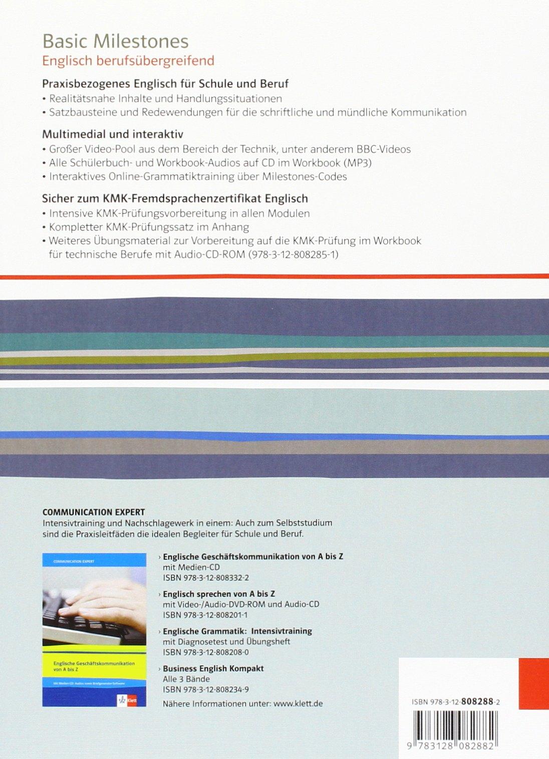 Basic Milestones: Englisch berufsübergreifend: Amazon.de: Wolfgang ...