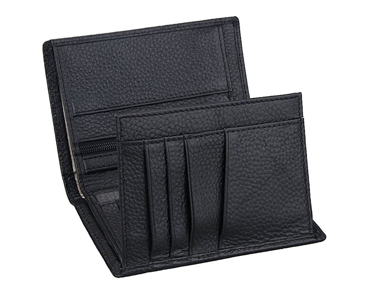 Genuine Leather RFID blocking wallet for man, Multi-slots leather wallet Maxcy