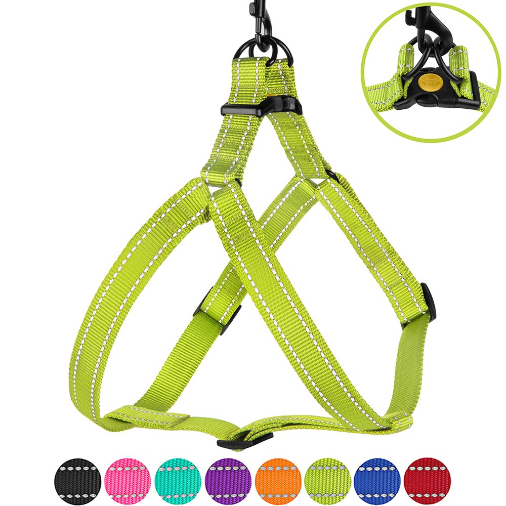 Lime Green Large Lime Green Large CollarDirect Reflective Dog Harness Step in Small Medium Large for Outdoor Walking, Comfort Adjustable Harnesses for Dogs Puppy Pink Black Red Purple Mint Green orange bluee (Large, Lime Green)