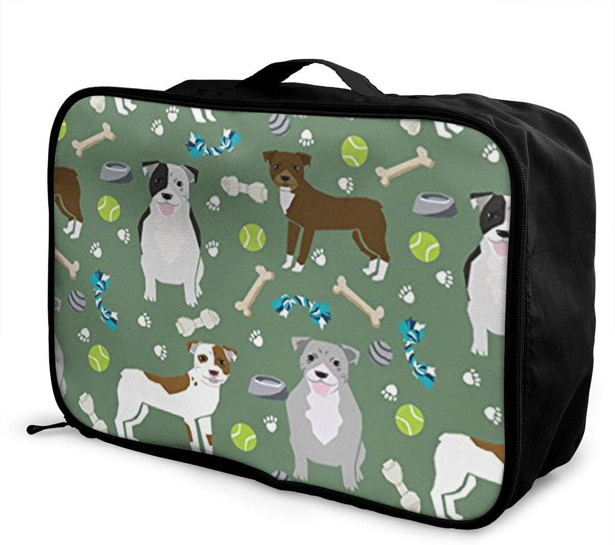 Cute Dalmatians Travel Carry-on Luggage Weekender Bag Overnight Tote Flight Duffel In Trolley Handle