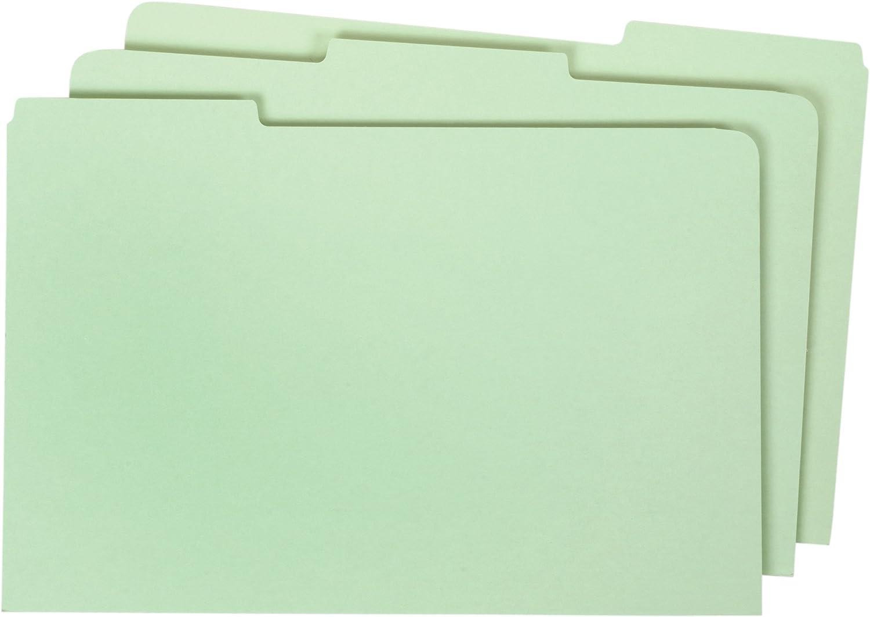 Globe-Weis/Pendaflex Pressboard File Guides, Blank, 1/3 Cut Tabs, Legal Size, Light Green, 50 Per Set (9324P)