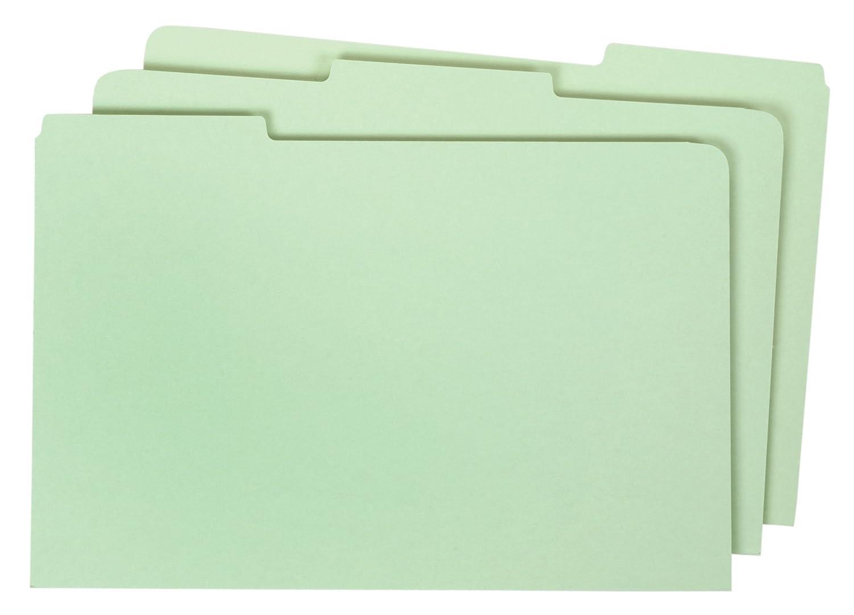 Globe-Weis Pressboard File Guides, Blank, 1/3 Cut Tabs, Legal Size, Light Green, 50 Per Set (9324P)