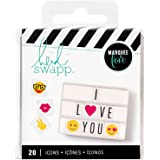 American Crafts Heidi Swapp Lightbox Icon Inserts Emoji 20 Piece