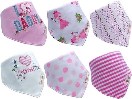 Baberos absorbentes: La parte delantera está hecha de algodón. La parte posterior está hecha de lana