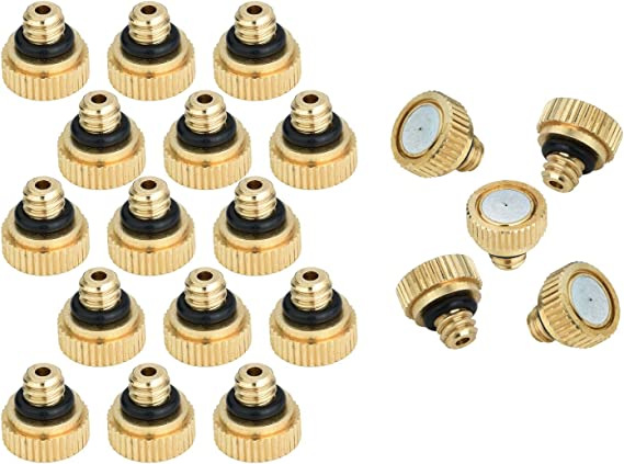 0.3 mm 10//24 UNC Garden KUWAN 20pcs Brass Misting Nozzles for Cooling System 0.012