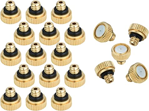 """20pcs Brass Misting Nozzles Water Mister Sprinkle Cooling System 0.012/"""" 10//24"""