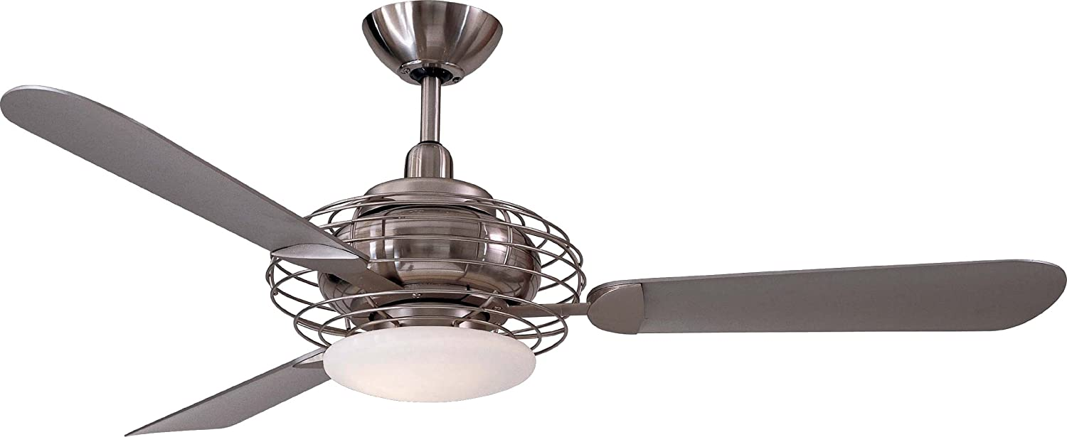 "Minka Aire F601 BS BN Acero 52"" Ceiling Fan with Light Brushed"