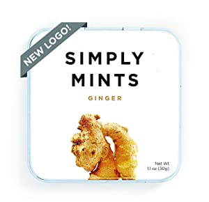 Breath Mints by Simply Gum   Ginger   Pack of Six (270 Pieces Total)   Vegan + non GMO