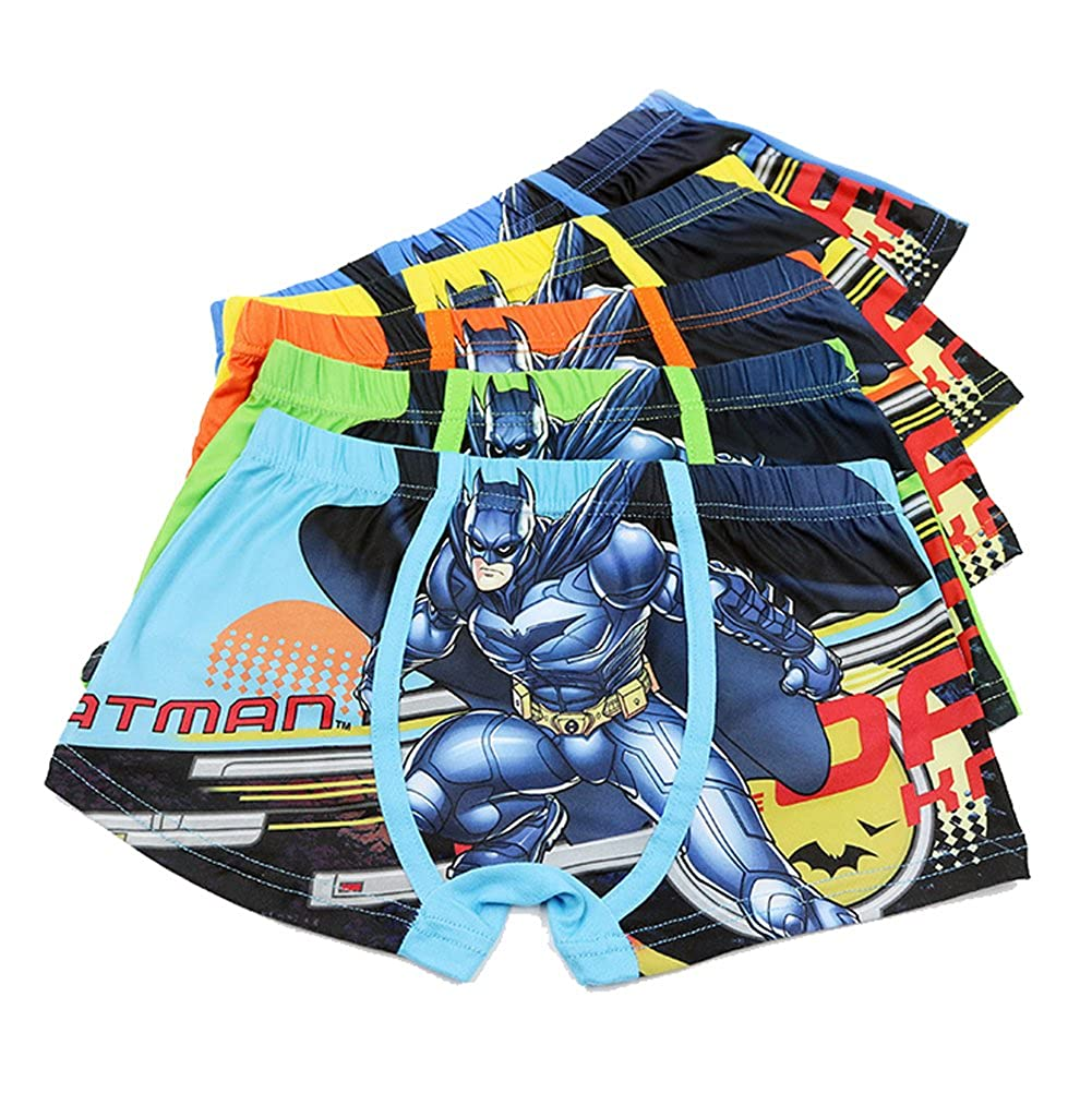 2-8 Years Boys Character Batman Boxer Briefs Cotton Cool Underwear 5 Pack YUMILY CAETNK1706243