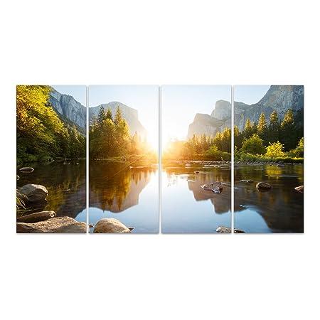 Dekoglas Glasbild Yosemite Tal Acrylglas Bild Kuche Wandbild Flur