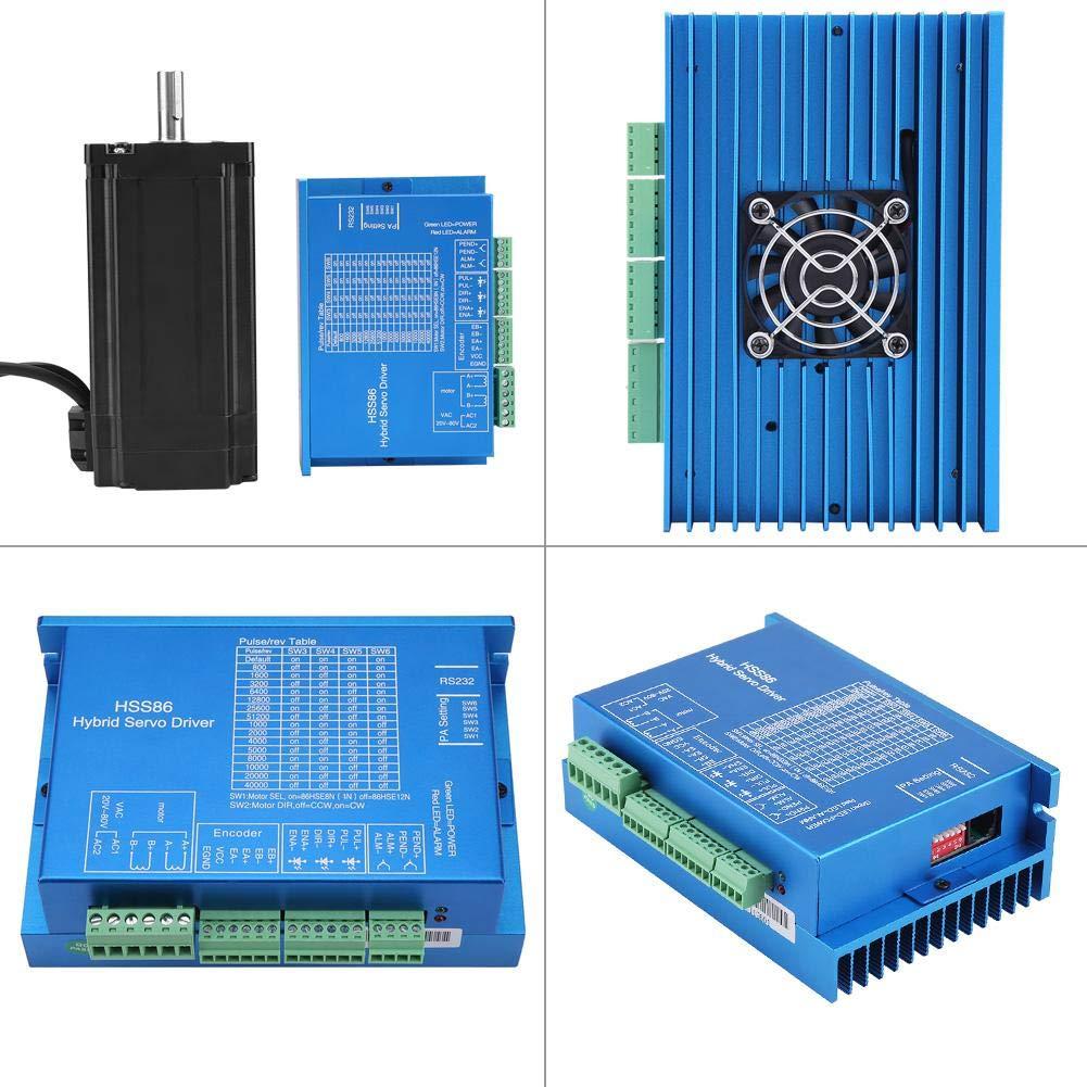 NEMA34 Schrittmotor 12N.M 0~3000RPM f/ür CNC Router Gravierfr/äsmaschine HSS86 Hybrid Servo Treiber CNC Controller Kit