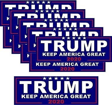 10Pcs Donald Trump President 2020 Keep America Great Again Car Bumper Stickers