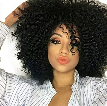 Amazon.com   ATOZWIG Short Afro Kinky Wig Curly Black Synthetic Wigs For  Black Women Natural Sexy Wigs Women Best Natural Looking African Wigs    Beauty 7b6a14a972