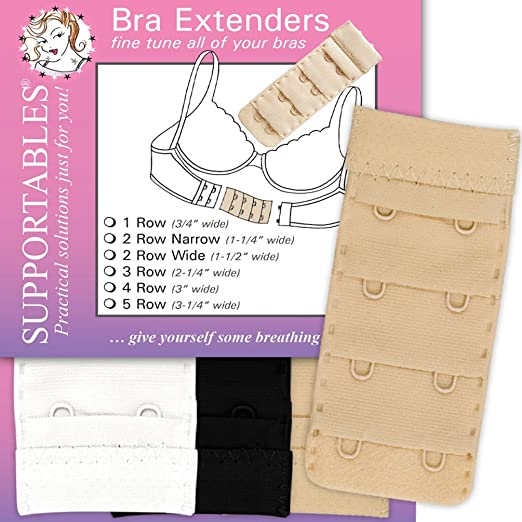 7ad6ae54e571a Supportables Bra Extenders - 3 Color Set at Amazon Women s Clothing ...