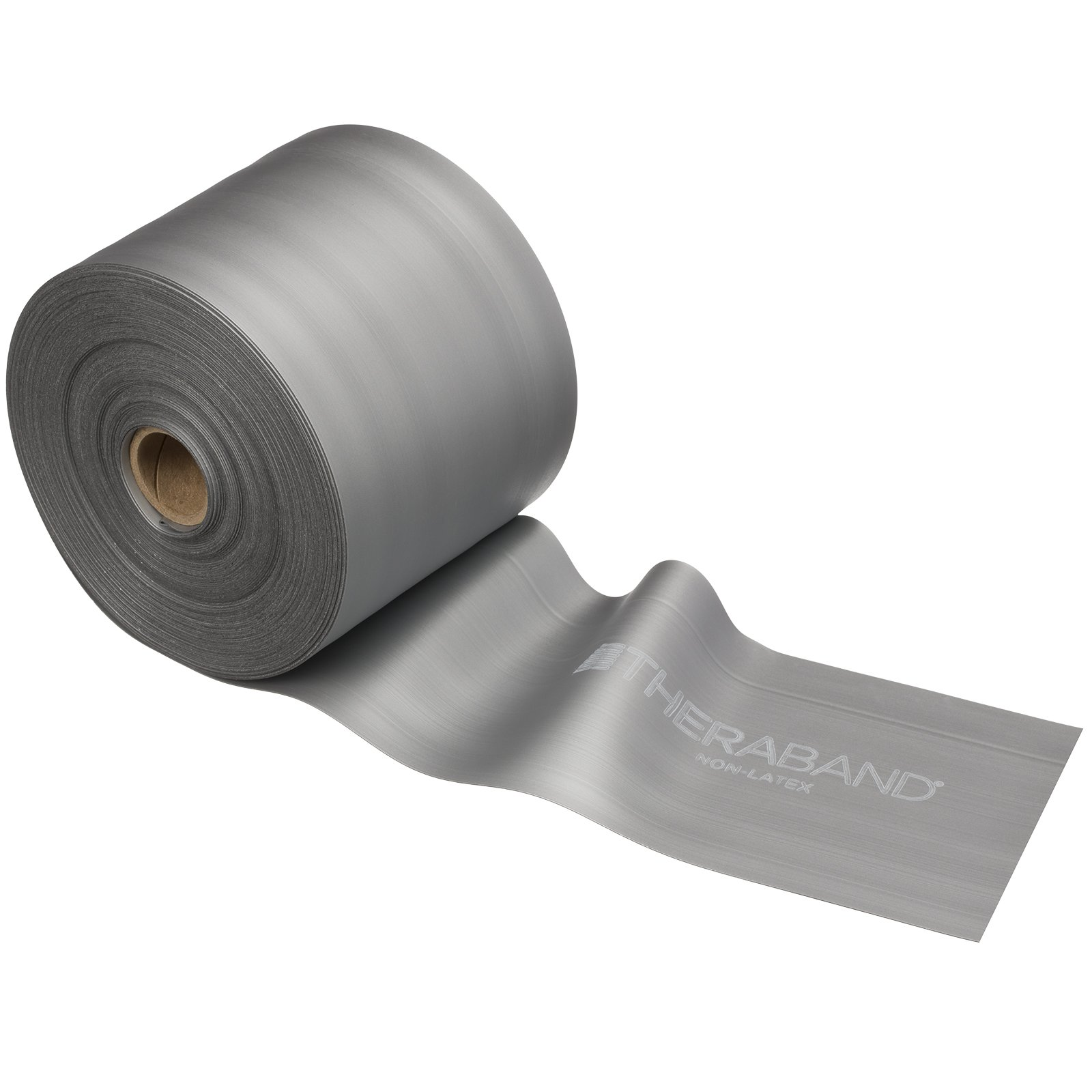 TheraBand Resistance Band 25 Yard Roll, Super Heavy Silver Non-Latex Professional Elastic