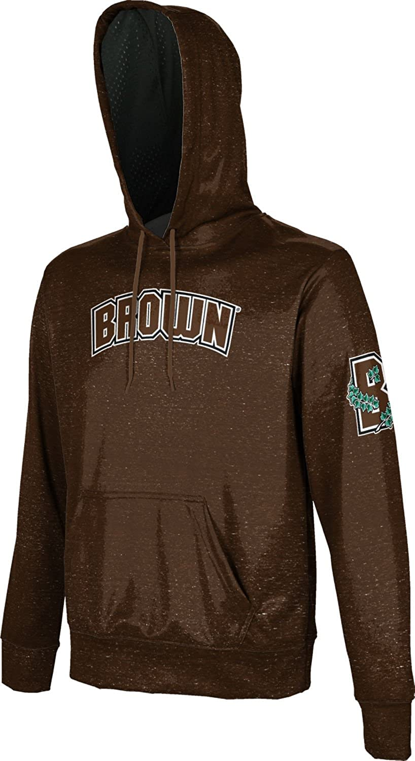 Heathered ProSphere Brown University Mens Pullover Hoodie School Spirit Sweatshirt