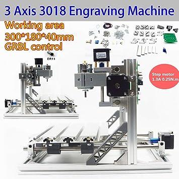 3 ejes CNC 3018 máquina de grabado láser impresora máquina de ...