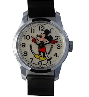 Amazon.com: Bradley Mickey Mouse Watch Vintage Made in 70s 6801: Clothing