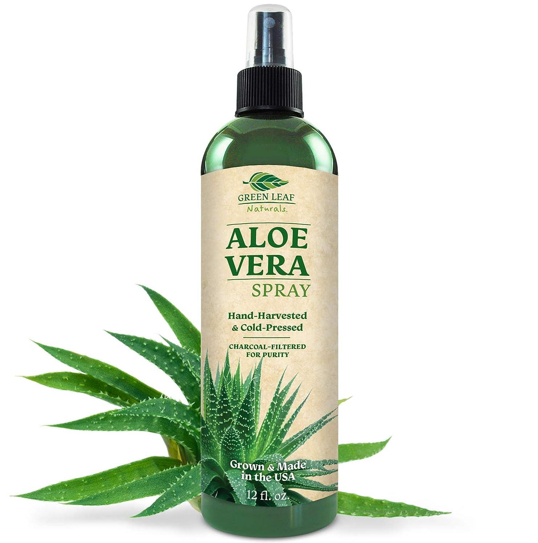 Green Leaf Naturals Organic Aloe Vera Gel Spray for Skin