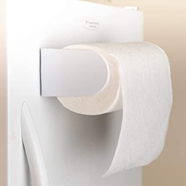 Saleaby White Magnetic Paper Towel Holder