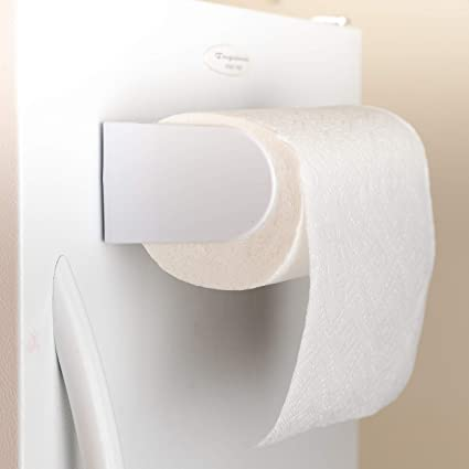 4fc26410489 Image Unavailable. Image not available for. Color  Saleaby White Magnetic  Paper Towel Holder