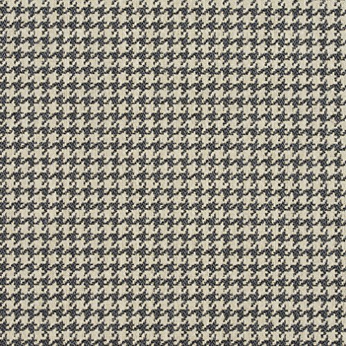 E850 Grey and Off-White Classic Houndstooth Jacquard Upholstery Fabric by The Yard