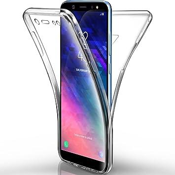 AROYI – Carcasa Samsung Galaxy A6 2018 – Funda, Transparente Silicona Gel Case Completo 360 degres Full Body Protección antiarañazos Carcasa Funda ...