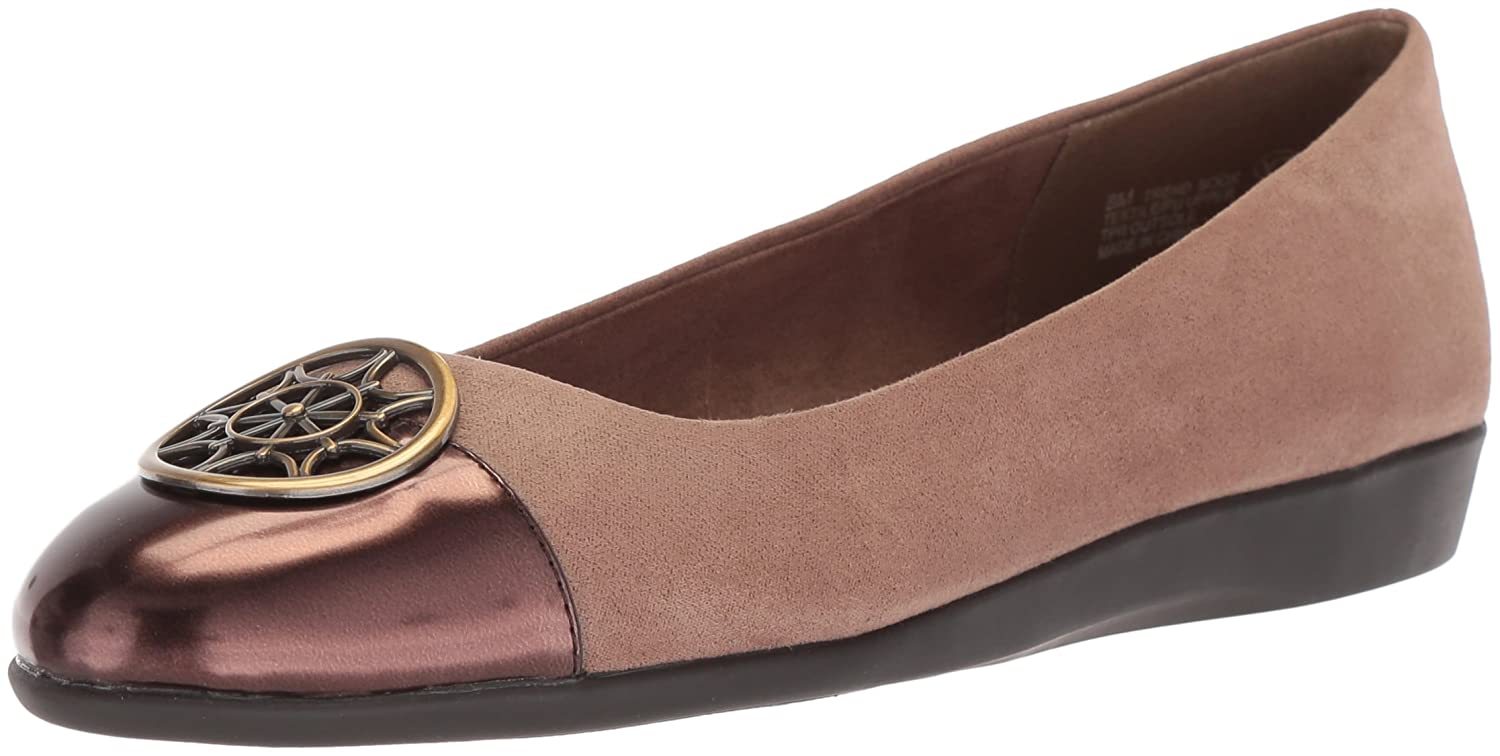 Aerosoles A2 by Women's Trend Book Ballet Flat B071945JMB 7.5 W US|Taupe Combination