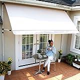 LOWYA (ロウヤ) 日よけ オーニング 紫外線99.8%カット 日除け シェード スクリーン 撥水 高さ調節 幅2m クリーム